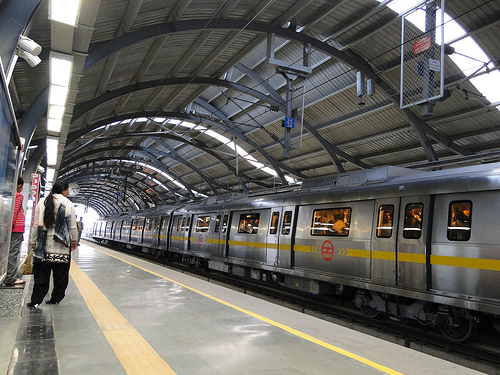 The Delhi metro photo